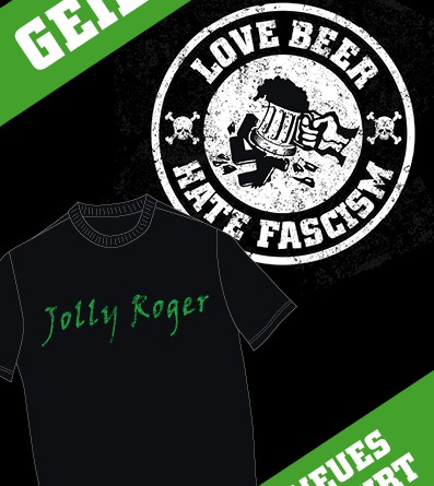 Neue Jolly Roger T-Shirts am Tresen