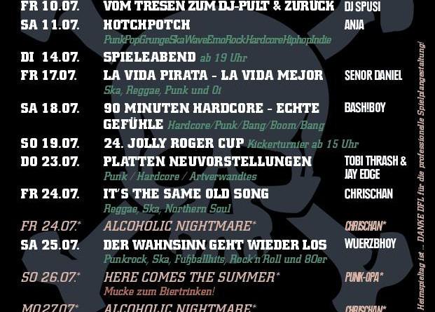 Jolly Roger Programm – Juli 2015