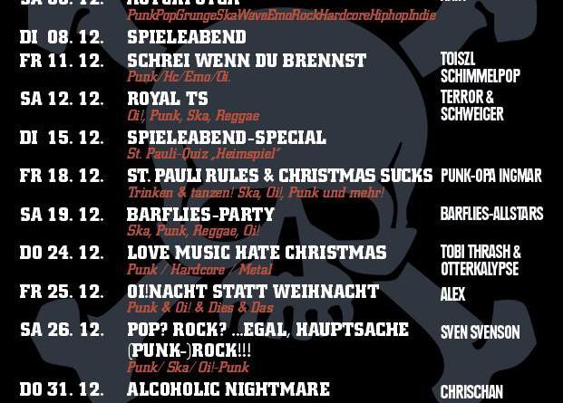 Jolly Roger Programm – Dezember 2015
