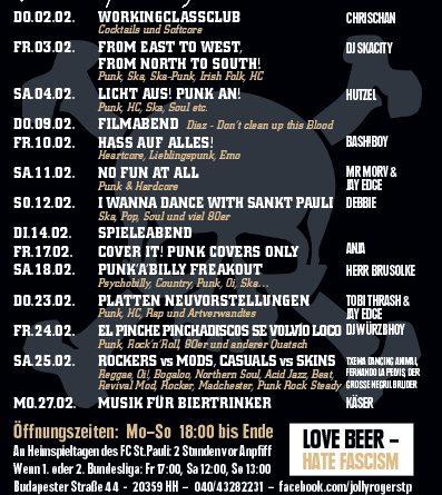Jolly Roger Programm Februar 2017