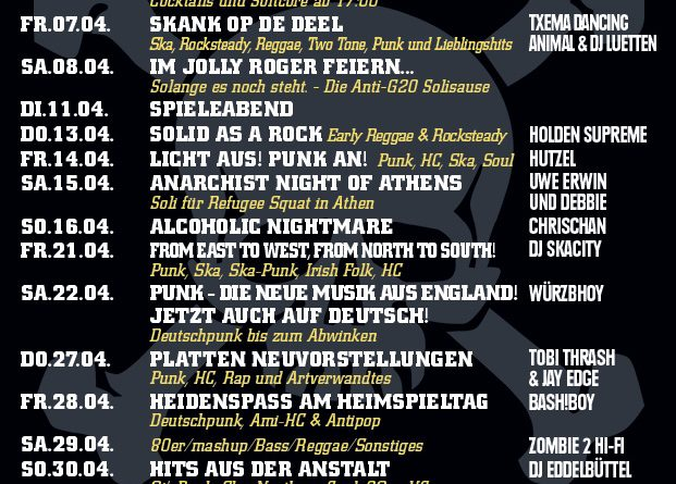 Jolly Roger Programm April 2017